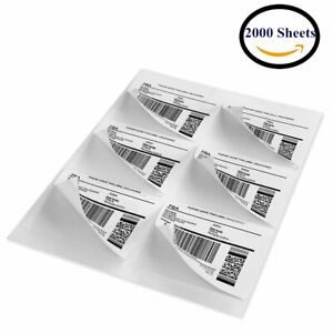 3 1 3 X 4 12000 Labels Address Shipping Mailing Blank Self Adhesive 6 Up Usps