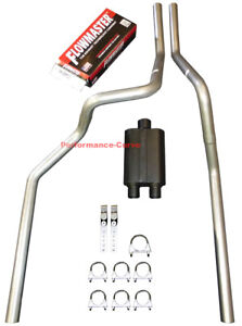 06 08 Dodge Ram Mandrel Bent Dual Exhaust W Flowmaster Muffler Super 44