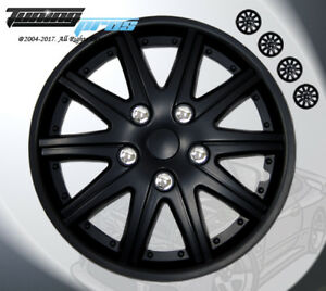 Wheel Rims Skin Cover 15 Inch Matte Black Hubcap Style 027 15 Inches Qty 4pcs