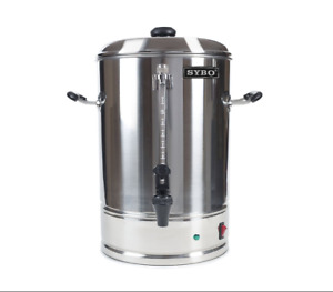 Sybo Commercial Grade Stainless Steel 10 Liters 70 Cups Coffee Maker And Hot Pot