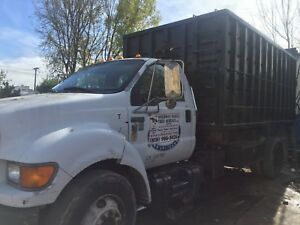 2000 Ford F650 16ft Roll Off And Dumpster