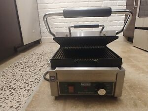 Waring Wpg150 Panini Perfetto Grooved Top Bottom Panini Sandwich Grill