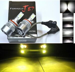 Led Kit C6 72w H11 3000k Yellow Two Bulbs Fog Light Replace Upgrade Lamp Oe Fit