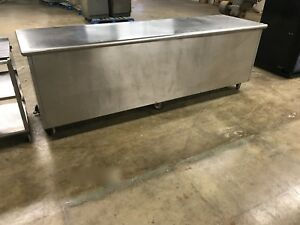 30 X 96 16 gauge Stainless Steel Cabinet table Restaurant Equipment
