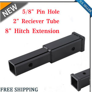 4000 Lb 18 Hitch Extension 2 Receiver Tube 5 8 Pin Hole Towing Extender Us To