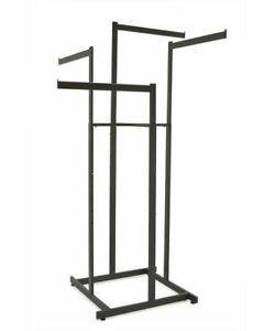 4 Way High Capacity Clothing Garment Rack With 4 Straight 22 l Arms Black