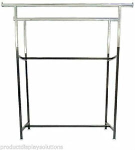 Double Bar H Rack With Adjustable Height 48 72 Black