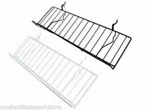 Pack Of 5 8 d X 23 l Slanted Slatwall Wire Candy Shelves Black Or White