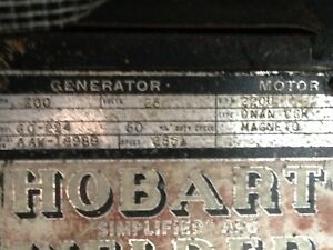 Hobart Go 224 Antique Vintage Welder Not Running Parts Or Restore Magneto Gas