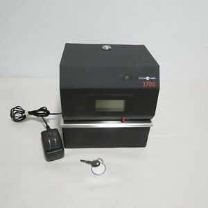 Pyramid 3700 Heavy Duty Steel Time Clock And Document Stamp Slight Marks