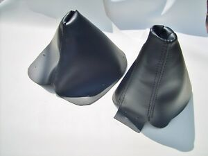 Black Shift And Brake Boot Skin Covers Fits 90 To 1996 Nissan 300 Zx 300zx