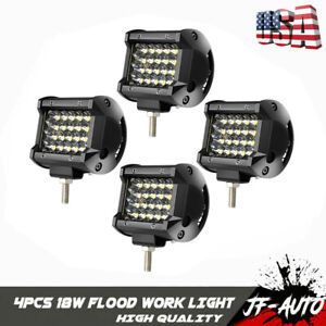 4pcs Pods Led Work Light Flood Work Lights For Truck Off Road Tractor 12v 24v