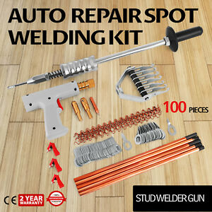 Repair Panels Spot Welding Kit Stud Welder Gun Aluminum Puller Equipment
