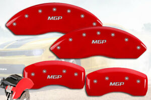 2003 2004 Ford Mustang Mach I Front Rear Red mgp Brake Disc Caliper Covers