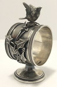 Antique Whiting 169 Sterling Silver Figural Bird Napkin Ring