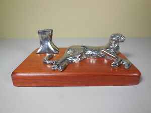 Maridadi Designs Cheetah Brittania Pewter Desk Business Card Holder S Affrica