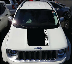 Solid Jeep Renegade Logo Hood Graphic Vinyl Decal Sticker Side Reflective Camo