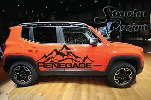 Jeep Renegade Mountain Logo Door Graphic Vinyl Decal Sticker Side Reflective Suv