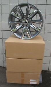 22 New Gmc Yukon Chevy Suburban Silverado Tahoe Hyper Chrome Wheels 5696 Caps