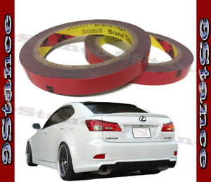 Best For Auto Car Spoiler 3m Double Sided Tape Two Rolls Pack Gray Acrylic Form