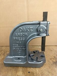 Dake Benchtop Arbor Press No 0 1 1 2 Ton Manual Hand Bench Press 1 5 Ton