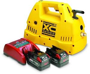Enerpac Xc1202mb Cordless Hydraulic Pump Brand New Free Shipping Bat And Charg