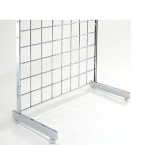 Gridwall L Shape L Style Legs Grid Panel Mounting Legs Chrome 5 Pairs