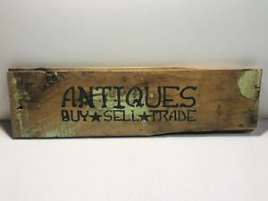 Primitive Antique Weathered Wood Sign Vintage Barn Wood Wall Mount Rustic