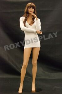 Female Fiberglass Mannequin Pretty Face Elegant Pose Dress From Display md fr10