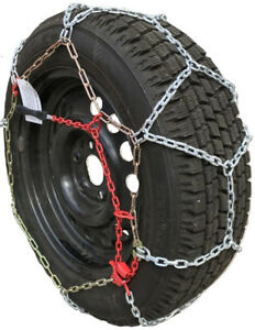 Snow Chains 225 60r17 225 60 17 Tuv Diamond Tire Chains Set Of 2