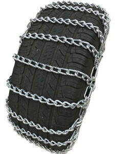 Snow Chains 225 75r17lt 225 75 17lt 2 Link Tire Chains W Spring Tensioners