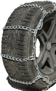 Snow Chains 35x14 16 Alloy Cam Tire Chains W rubber Tensioners