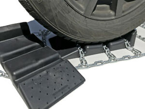 Snow Chains 35x14 15 Alloy Cam Tire Chains W sno Chain Ramps