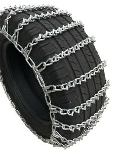 Snow Chains 245 75r15lt 245 75 15lt V bar 2 link Tire Chains Set Of 2