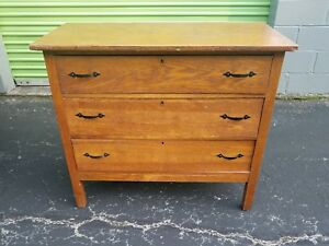 Vintage Mission Oak 3 Drawer Dresser Stickley Style