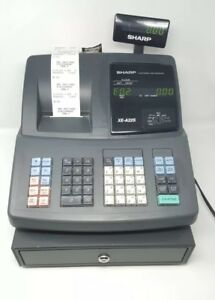 Sharp Xe a22s Electronic Cash Register No Keys Tested Works