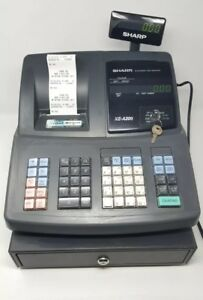 Sharp Xe a206 Electronic Cash Register With Keys tested Works Good