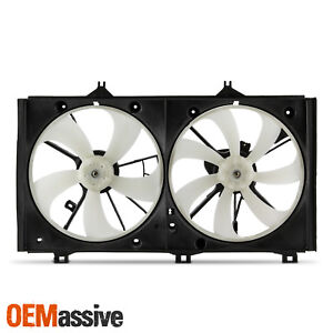 For 2007 2009 Toyota Camry 2 4l L4 Condenser Cooling Radiator Dual Fan W Motor