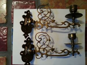 Antique And Ornate Candle Sconces From Eastern Europe