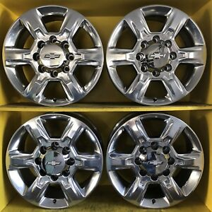 20 Chevrolet Gmc Sierra Ltz Z71 2500 Hd Oem Wheels Rims 8x180 Polished Alloy