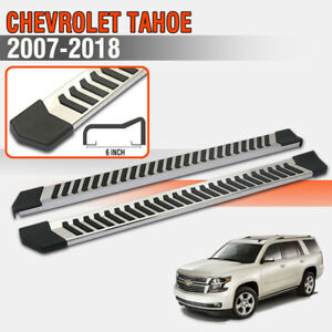 For 07 18 Chevrolet Tahoe 6 Side Step Running Boards Nerf Bar Side Bar S S V