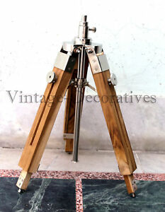 Maritime Handmade Table Top Lamp Stand Tripod Nautical Vintage Spot Light Tripod
