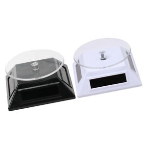 2pc 360 Turntable Watch Stand Rotating Display Stand Necklace Jewelry Holder