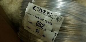 Cme 4 Aluminum Solid Tie Wire 652 Ft 25 Lbs