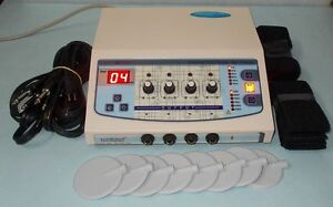 Physical Therapy 4 Channel Electrotherapy Ultrasound Electrotherapy Machine