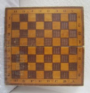 13 Antique Vintage Wooden Checkerboard Game Board Box Chess Backgammon