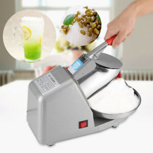 Electric Ice Crusher Shaver Machine Snow Cone Maker Shaved Ice 85kg hr 1350rpm