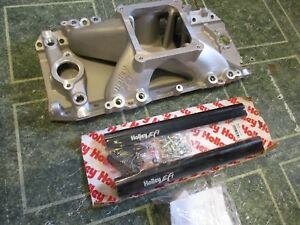 Holley 300 562 Chevy Bbc 454 402 Intake Manifold Efi Nos Oval Port Style 9 8