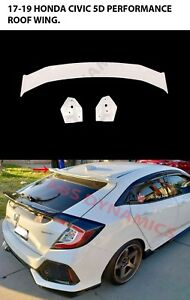 For 17 19 Honda Civic Hatchback 5d P1 Rear Roof Spoiler Wing Type R Abs Unpaint