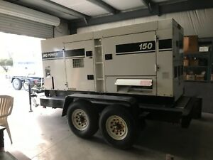 Multiquip Dca150ssiu 120 Kw Portable Diesel Generator On A Trailer